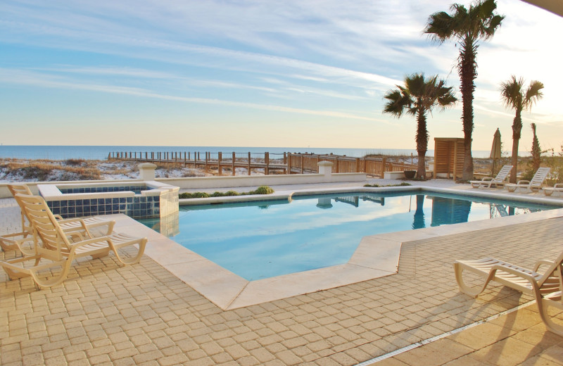 Outdoor pool at Gulf Shores Vacation Rentals.