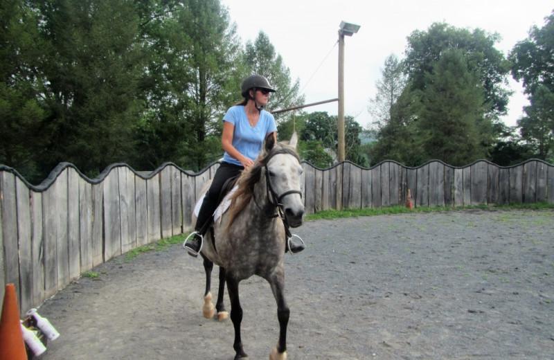 Horseback riding at Hickory Run Family Campground.