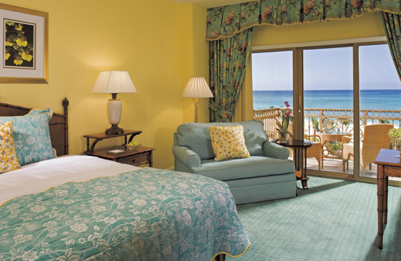 Guest room at Ritz-Carlton Grand Cayman.
