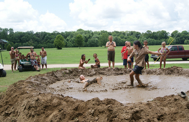 Mud wrestling at MarVal Resort.