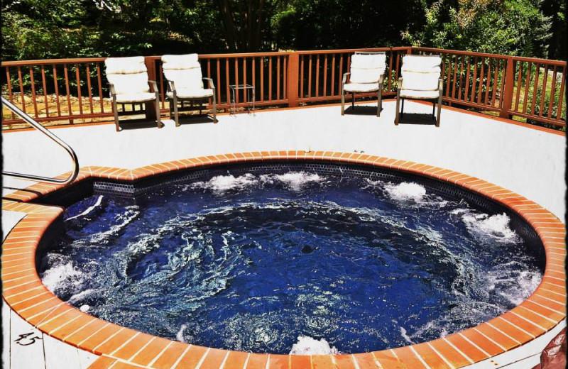 Hot tub at Dahlonega Spa Resort.