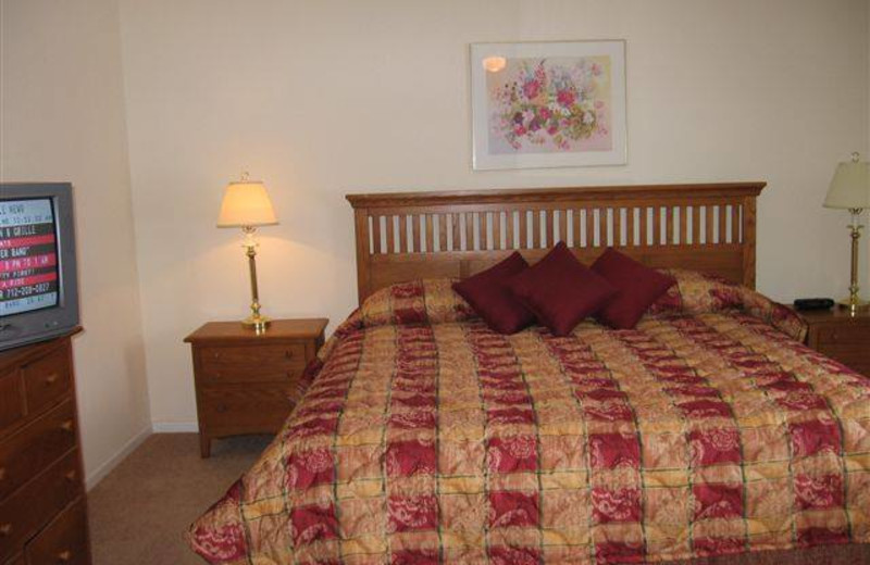 Guest room at Village West Resort.