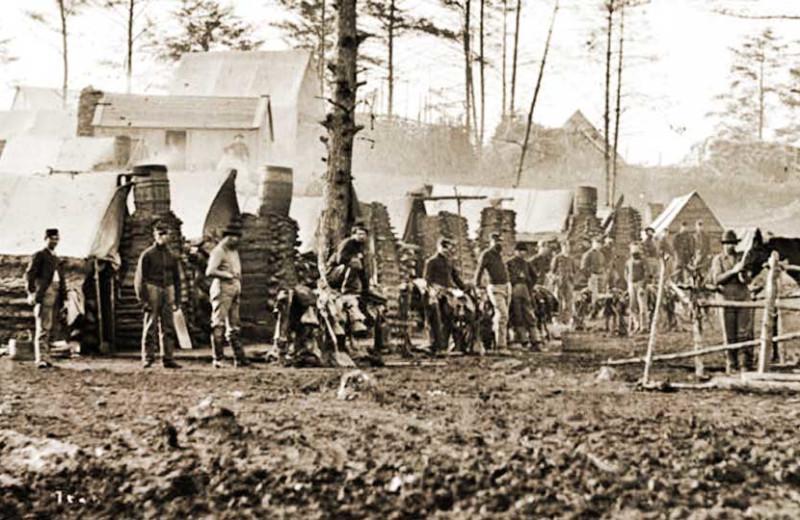 Photo of civil war soldiers at Battlefield Bed & Breakfast.