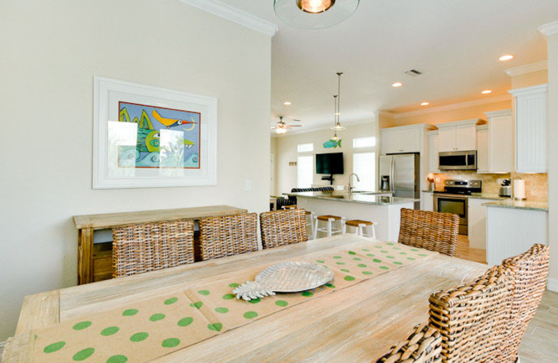 Rental dining room at Island Real Estate.
