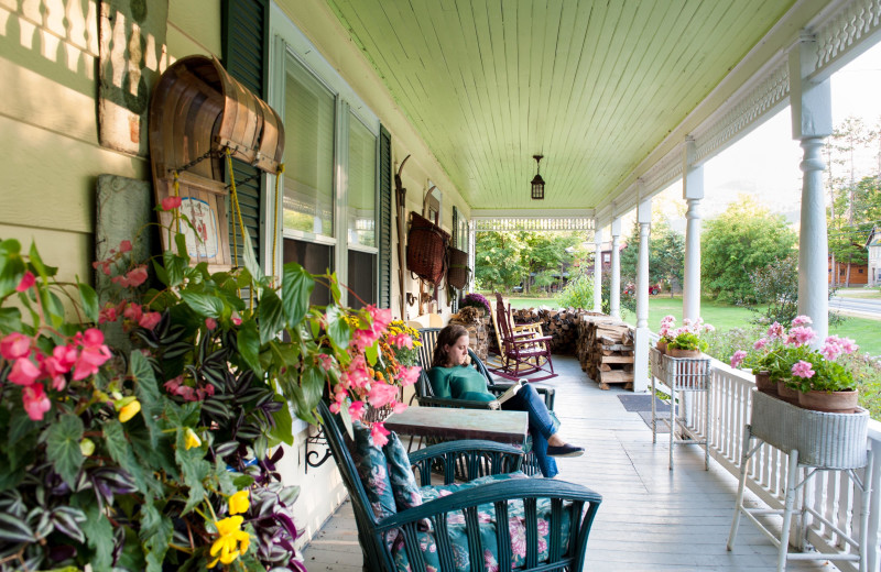 Porch at Keene Valley Lodge.
