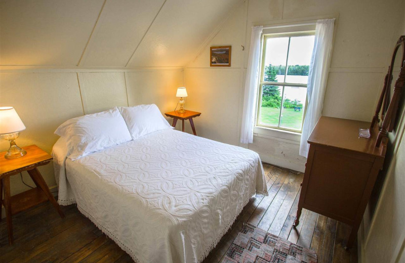 Guest room at Quimby Country Lodge & Cottages.