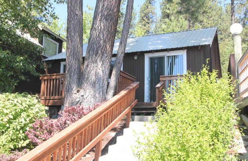 Cabin exterior at Silver Beach Resort.