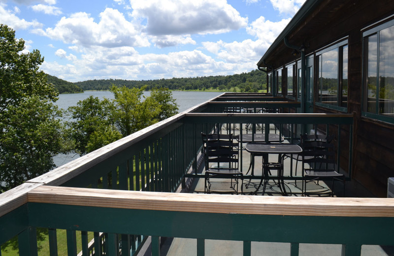 Balcony at YMCA Trout Lodge & Camp Lakewood.