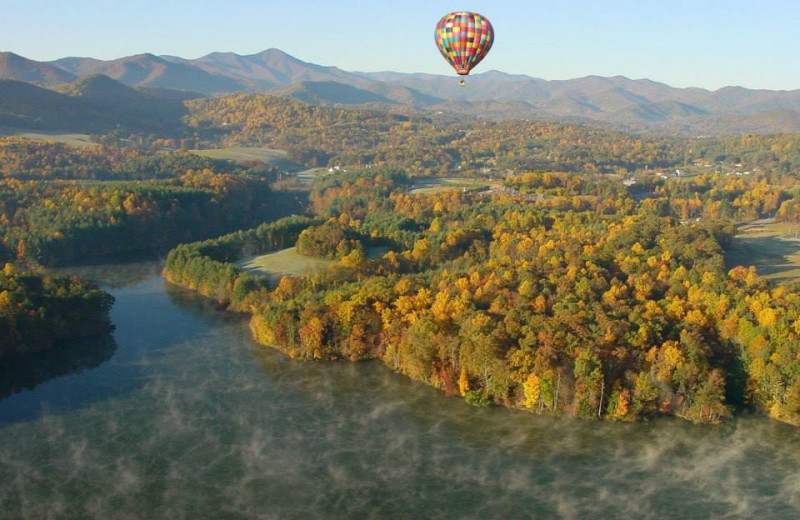 Hot air balloon ride near The Residences at Biltmore.