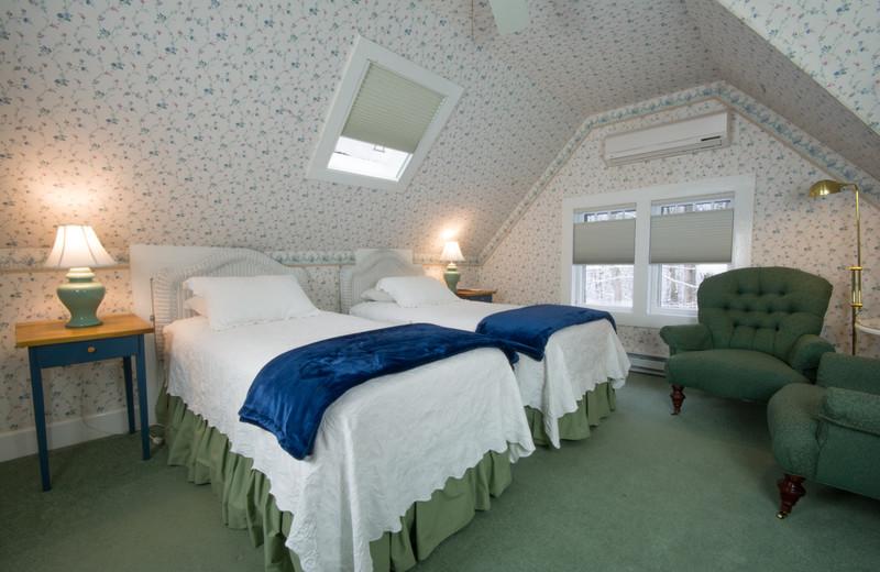 Guest room at Brook Farm Inn.