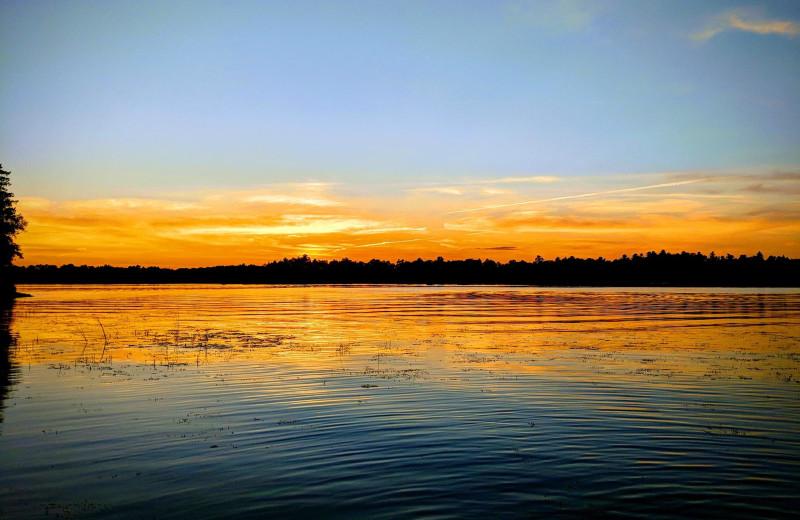 Sunset at Little Norway Resort.