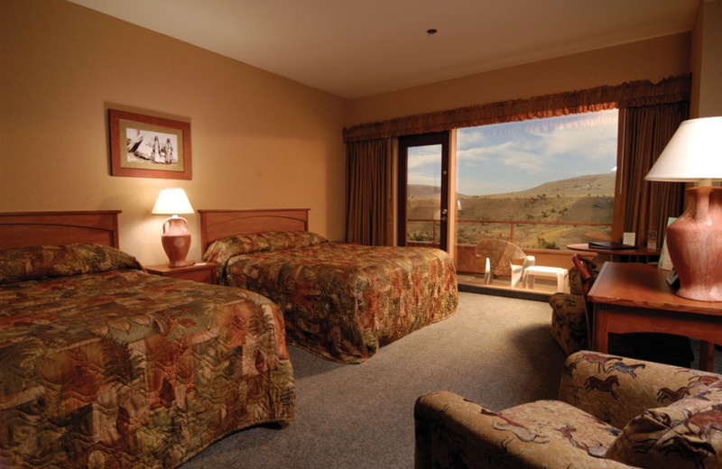 Two bed guest room at Kah-Nee-Ta Resort and Spa.
