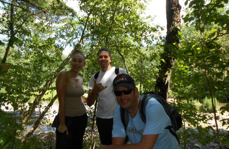 Hiking at Cold Spring Lodge.