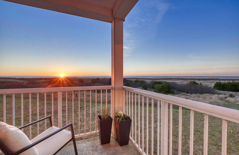 Rental porch at Bloomer Estates Vacation Rentals.