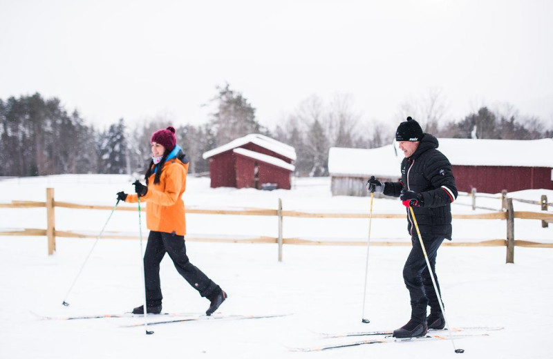 Skiing at Edson Hill.