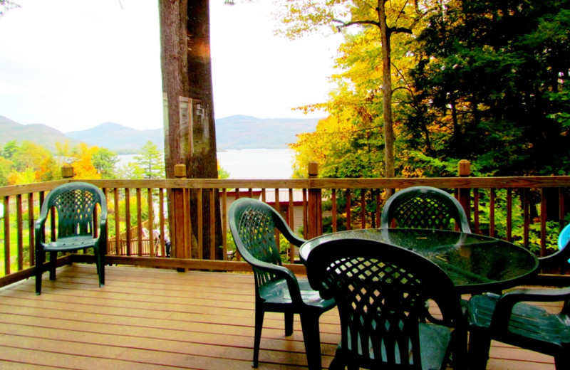 Cabin deck at Contessa Resort.