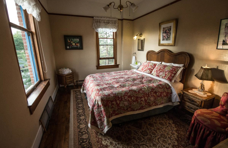 Guest room at Balch Hotel.