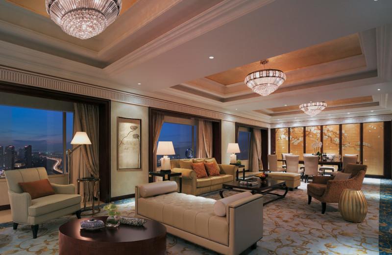 Guest suite at Shangri-La Hotel-Dalian.
