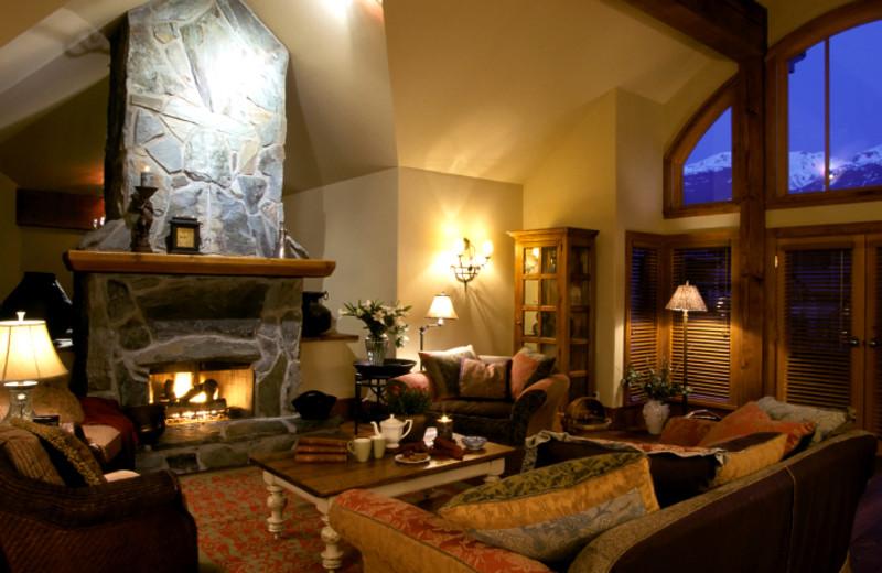Vacation rental living room at Breckenridge Colorado Vacations.