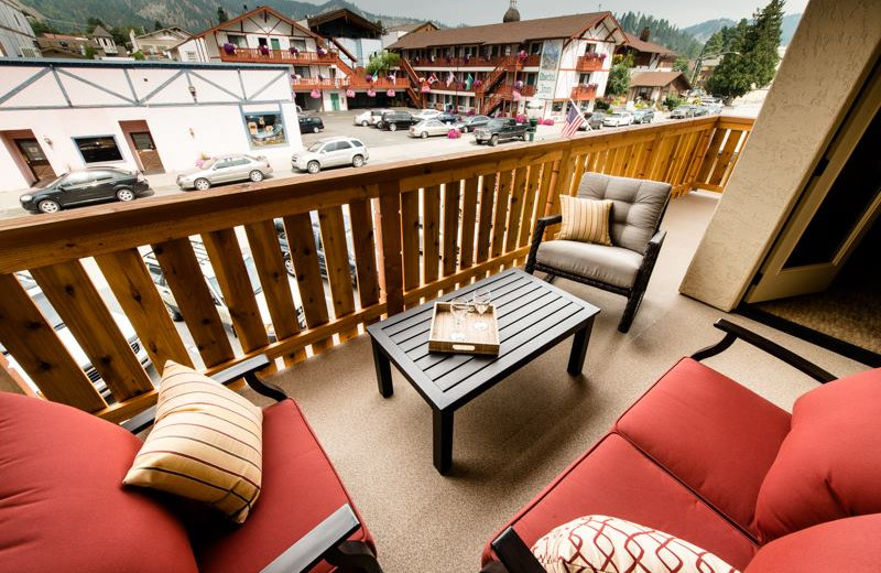 Balcony view at Obertal Inn.