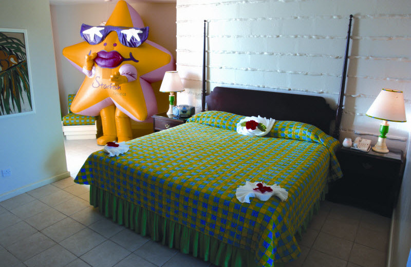 Guest room at Starfish Trelawny Beach and Fun Resort.