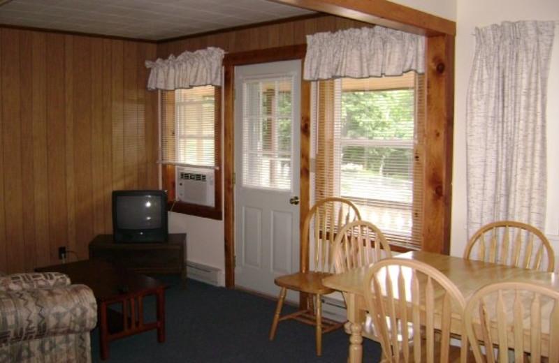 Cabin interior at Boulders Resort.