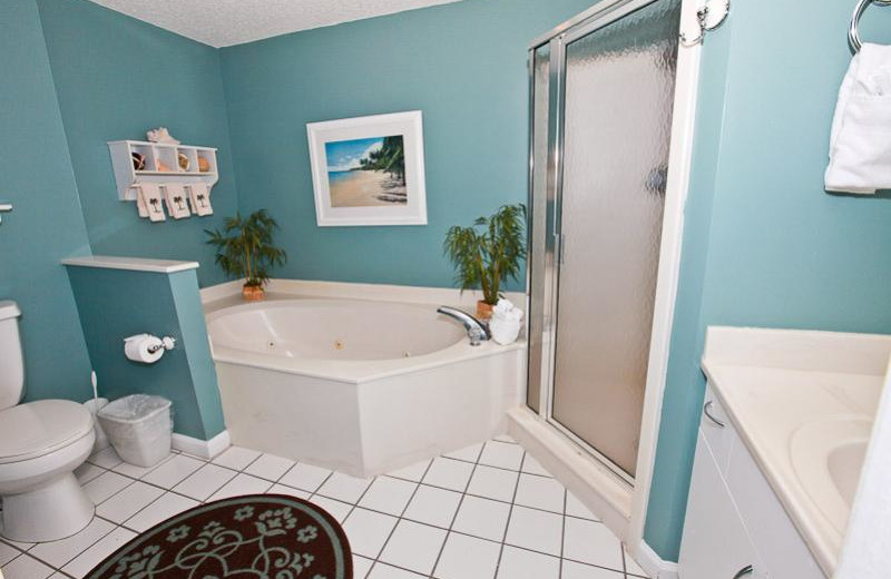 Rental bedroom at Sterling Sands Condominiums.
