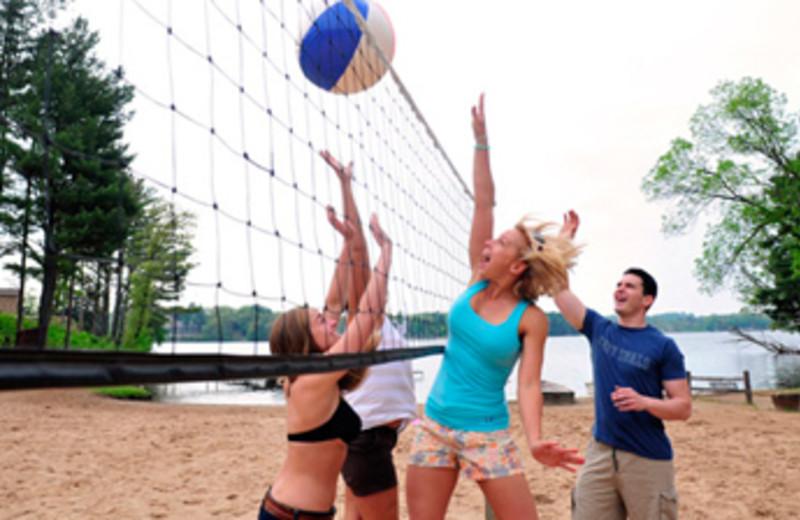 Beach volley ball at Baker's Sunset Bay Resort.