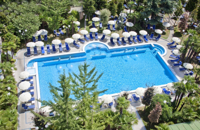 Outdoor pool at Grand Hotel Trieste & Victoria.
