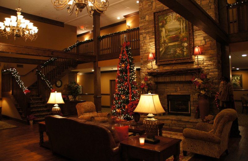 The lobby at Mountain Lodge & Conference.