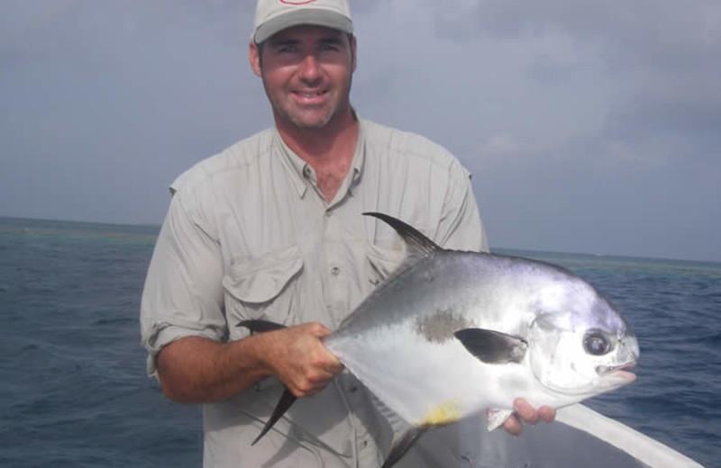 Fishing at Whipray Caye Lodge.