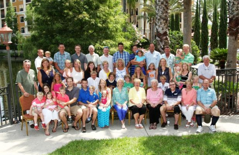 Family reunion at Floridays Resort Orlando.