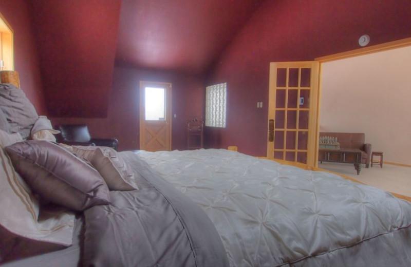 Vacation rental bedroom at SkyRun Vacation Rentals - Nederland, Colorado.