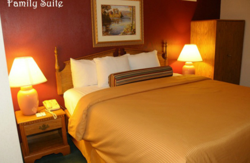 Guest room at Clarion Hotel at The Palace.