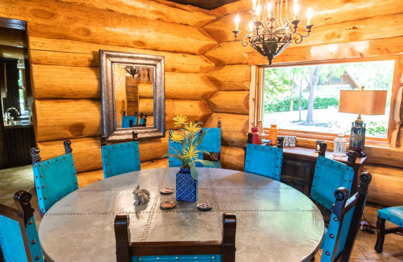 Guest dining room at Log Country Cove.