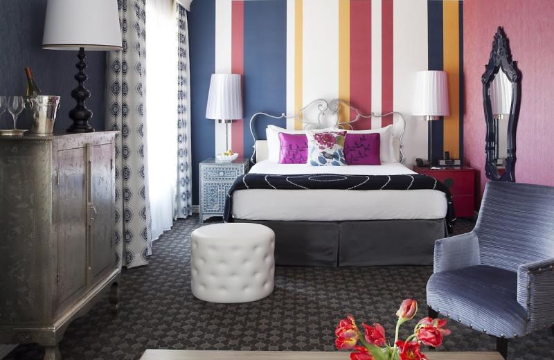 Guest bedroom at Hotel Monaco San Francisco.