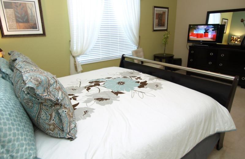 Rental bedroom at Casiola Vacation Homes.