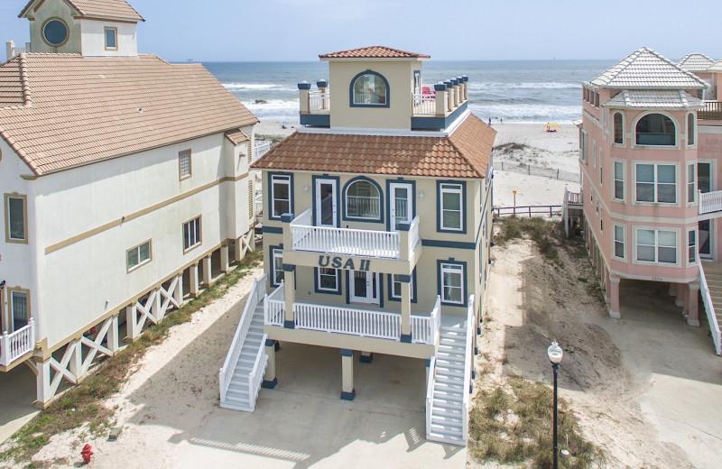 Rental exterior at Sunset Properties.
