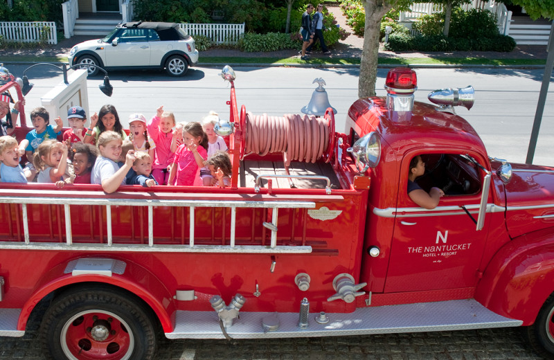 Fire truck at The Nantucket Hotel and Resort.