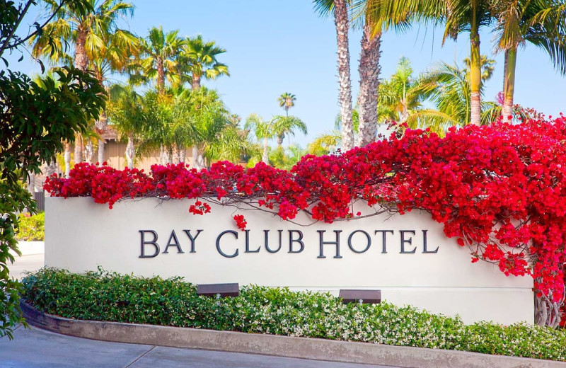 Bay Club Hotel & Marina sign.