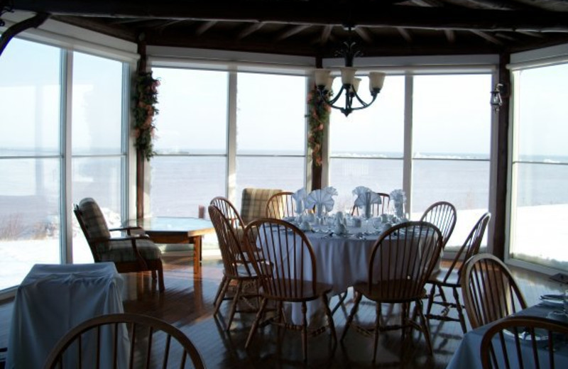 Dining at Pictou Lodge Resort