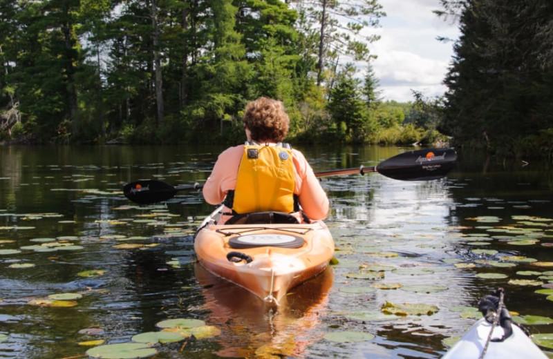 Kayaking at White Birch Village Resort.