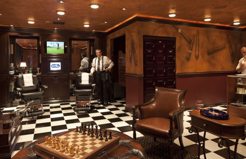Barber shop at La Quinta Resort and Club.