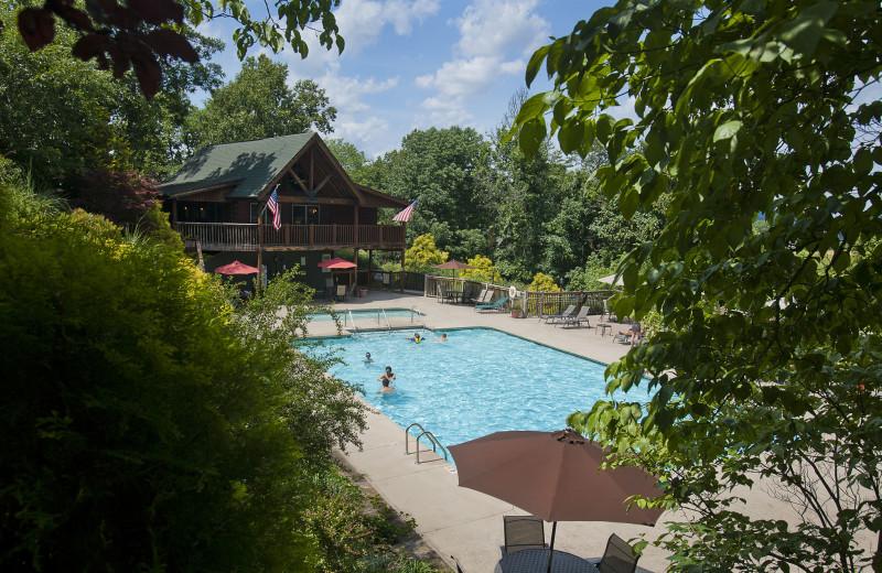 Pool at Oak Haven Resort.