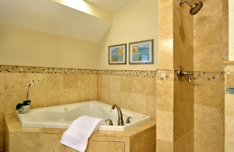 Guest Bathroom with Whirlpool Tub at Ocean House