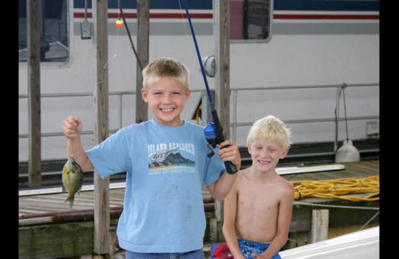 Fishing at Irvin Cobb Resort.