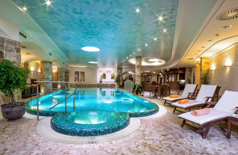 Indoor pool at Carlsbad Plaza Spa & Wellness Hotel.