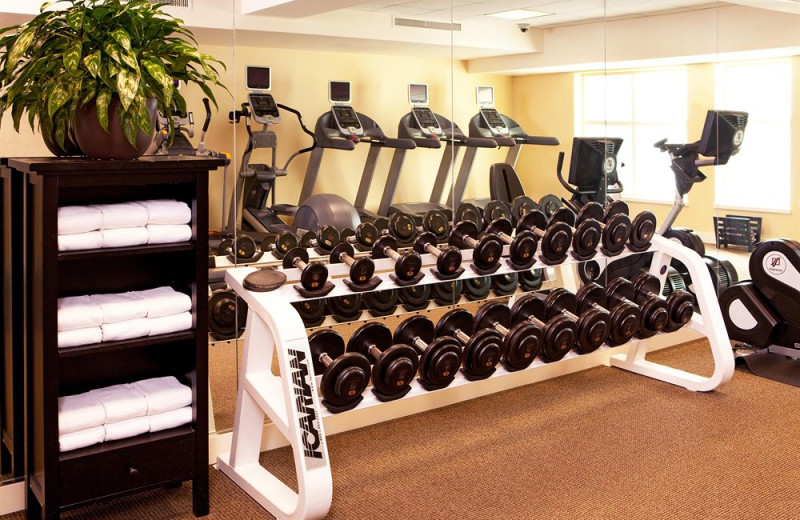 Fitness room at Hotel Commonwealth.