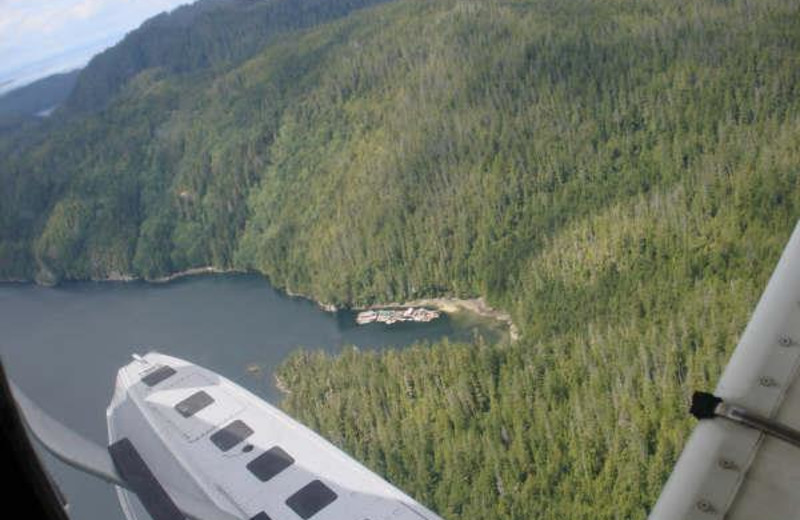Aerial view of Blackfish Lodge.