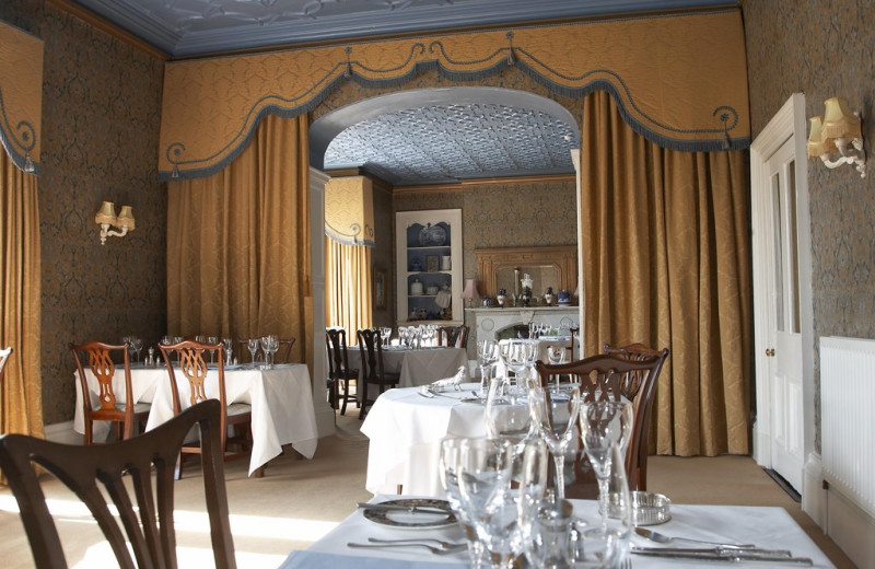 Dining at Farlam Hall Country House Hotel.
